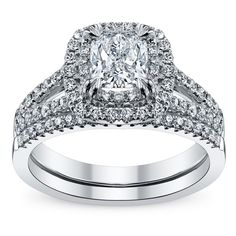 Hottest Engagement Rings - Engagement Ring Trends | Wedding Planning,... ❤ liked on Polyvore