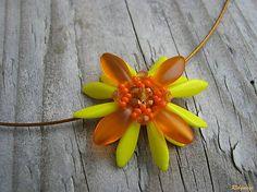 Ridgways / Hippie collection - yellow flowers...náhrdelník
