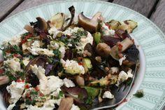 sałatka z grillowanych warzyw i kaszy gryczanej