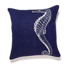 Animal pillow! Seahorse pillow $106 @ www.burkedecor.com