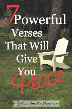 7 verses I hold close when I need to remember God's peace even when life is…