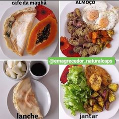 Montagem com as refeições mais importantes do dia, espero que gostem Assembly with the most important meals of the day, I hope you enjoy gost. / Breakfast / pre training: Tapiovo of tapioca I mak Healthy Meals For One, Healthy Breakfast Recipes, Easy Healthy Recipes, Healthy Snacks, Snack Recipes, Healthy Eating, Breakfast Ideas, Dieta Online, Quick Weight Loss Diet