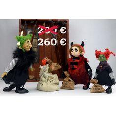 OOAK Halloween Kunst Puppe Satz Künstler von Linas4oClockFriends