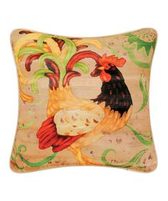 This Taupe Rooster Printed Pillow is perfect! #zulilyfinds