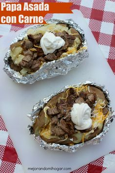 Prepara una rica papa asada rellena de carne o papa regia Mexican Kitchens, Mexican Cooking, Mexican Food Recipes, Beef Recipes, Cooking Recipes, Beef And Potato Stew, Ground Beef And Potatoes, Cuban Beef Stew Recipe, Yummy Veggie