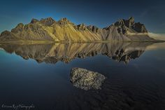 Vestrahorn reflection by Etienne Ruff on 500px