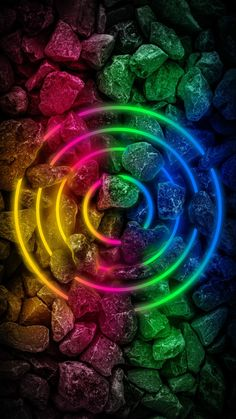 Stone Neon RGB Light - iPhone Wallpapers