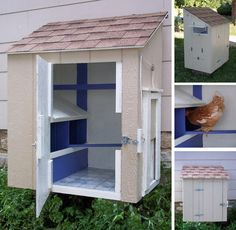 Another pinner: best chicken house, ever!  Forget the chickens. Better used as a garden tool shed.