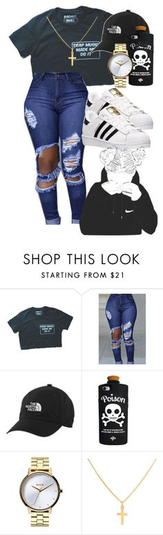 """long time no see"" by r0yalkae ❤ liked on Polyvore featuring The North Face, Valfré, Nixon, Sterling Essentials and adidas"