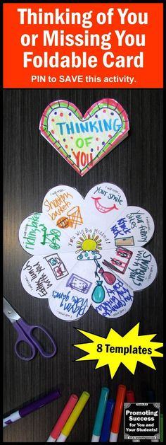Thinking of you card for students to make missing you craft thinking of you card for students to make missing you publicscrutiny Image collections