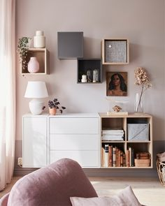 A small and elegant living room for two - IKEA Ikea Living Room, Small Apartment Living, Small Living Rooms, Small Living Room Storage, Ikea Eket, Ikea Wall, Elegant Living Room, Home Decor, Wall Units
