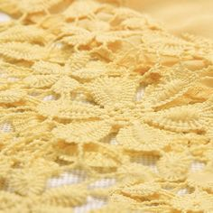 Gold Lace Fabric, Embroidered Lace Fabric, Yellow Lace Dresses, Lace Decor, Floral Lace, Dress Outfits, Tropical, Pastel, Cute