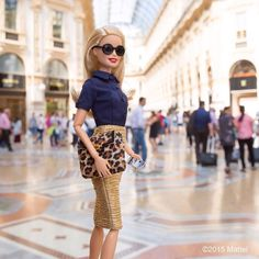 Can't resist a little mid-day browsing at Galleria Vittorio Emanuele!  #mfw #barbie #barbiestyle