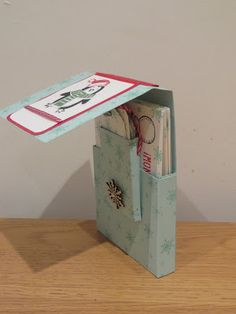 CraftyCarolineCreates: Cards and Tags Gift Box Video Tutorial using Snow Place by Stampin' Up, Ideal for Christmas