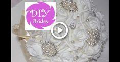 Diy Wedding Projects, Wedding Crafts, Diy Wedding Decorations, Fabric Roses Diy, Fabric Flower Tutorial, Diy Wedding Flowers, Flower Bouquet Wedding, Brooch Bouquet Tutorial, Broschen Bouquets