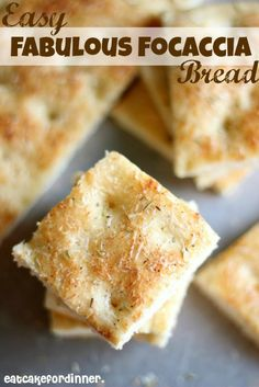 Easy and Fabulous Focaccia Bread