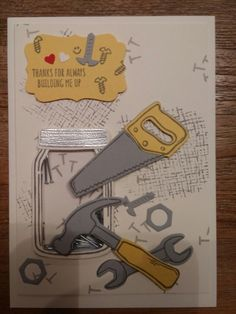 Stampin' Up! Nailed It and Build It Masculine Card