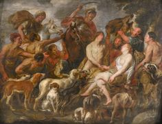 """An Old master oil painting found dumped in storeroom of the Swansea Museum in Wales, """"Meleager Presenting the Boar's Head to Atalanta"""" originally believed to be an 18th century copy is now attributed toFlemish Baroque painter Jacob Jordaens (1593–1678). The painting,partially painted over by a restorer, was listed on theArt UKwebsitebut its author was listed as unknown. Art historian and presenter of BBC1'sFake or Fortune, Bendor Grosvenor, began researching whether it was by Jordaens…"""