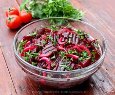 Salata de sfecla rosie Romanian Food, Romanian Recipes, Beets, Pasta Salad, Salad Recipes, Good Food, Ethnic Recipes, Anna, Canning