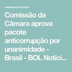 Comissão da Câmara aprova pacote anticorrupção por unanimidade - Brasil - BOL Notícias