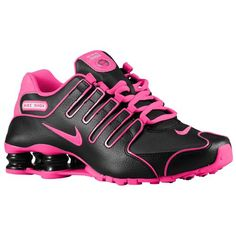 Nike Shox NZ - Women's - Running - Shoes - Black/White/Hyper Pink