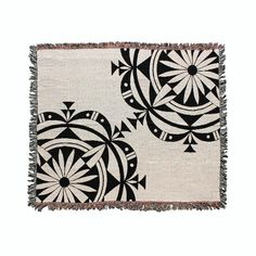 Acoma Pueblo designed Wandering Clouds throw blanket by Eighth Generation and Native artist Michelle Lowden