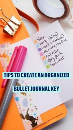 Stay Organized with a Bullet Journal Key