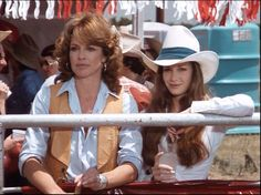 "Sue Ellen Ewing (LINDA GRAY) and her sister Kristin Shephard (MARY CROSBY) in Season 3, Episode 8's ""Rodeo"" episode."