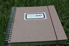 Race day scrapbook.  Not sure it's worth $55....I think I could do my own for a lot less.  Great idea, though.