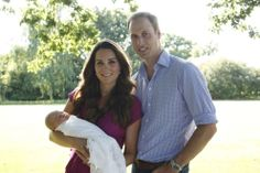 First official pictures of the Cambridges