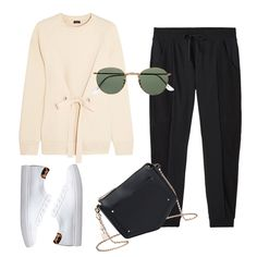 - Another athletic-inspired style, joggers are chic with an eyelet-embellished sweatshirt, angular cross-body bag and leopard-accented sneakers.