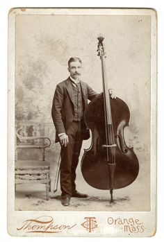 Gentleman with his bass
