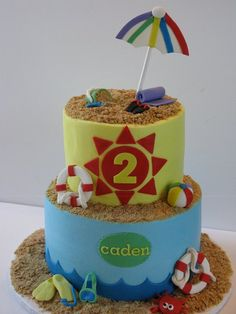 Day at the Beach Cake by Cakes by Kerrin