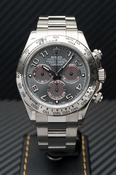 Rolex [NEW] 116509 Daytona White Gold Grey Dial 40mm Watch (Retail:HK$269,300) - Easter Surprise:- HK$206,000.