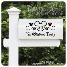 "Disney ""Mickey Mouse"" Vinyl Mailbox Lettering Decoration You are in the right place about Disney Hom"