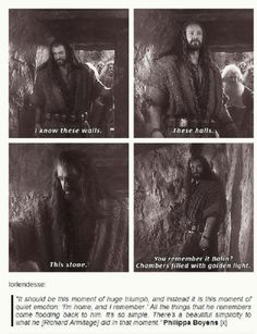 This is why no one will ever convince me that Thorin had gold-sickness. He was never focused on the gold; all he wanted was to go home. Now excuse me while I go sob in the corner! <- Hang on, I'll join you...