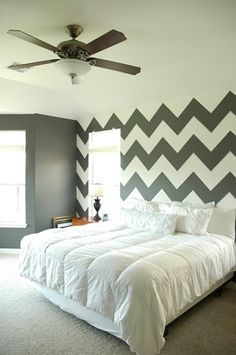 I want a chevron wall in the living room but Brandon wont let me....maybe in one of the spare bedrooms.