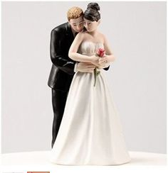 AmazonSmile: Personalized Hugging Bride and Groom Willow Tree Promise Cake Topper, Bride and Groom Wedding Cake Topper.: Kitchen & Dining