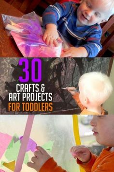 30 toddler crafts and art projects to do Toddler Art Projects, Toddler Crafts, Toddler Fun, Diy Projects, Gross Motor Activities, Infant Activities, Toddler Schedule, Crafts For Kids To Make, Kids Videos