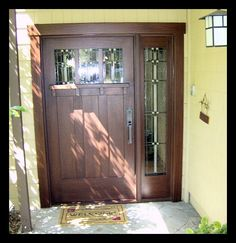Craftsman front door with side light  <3