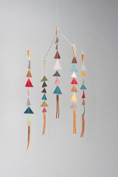 felt and leather baby mobile