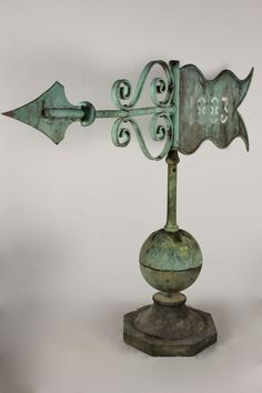 Very Large Century Verdigris Copper Weathervane