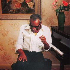 A one of a kind talent - #HBD to #RayCharles!!!! #waybackwednesday @americanexpress ad shot by #AnnieLeibovitz styled by #lorigoldstein