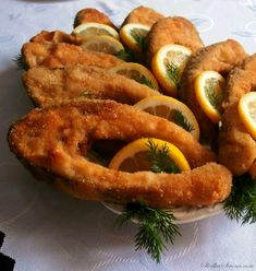 Karp, Fish Dishes, Onion Rings, Zucchini, Shrimp, Sausage, Food And Drink, Lunch, Meat