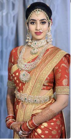 Indian Bridal Sarees, Indian Bridal Fashion, Indian Bridal Wear, Indian Beauty Saree, Bridal Lehenga, Beautiful Girl Indian, Beautiful Indian Actress, Beautiful Bride, Bridal Blouse Designs