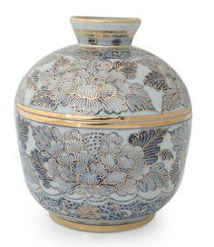 Benjarong porcelain jar, 'Luxury' by NOVICA