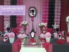 Festa Barbie Paris - Preta e Rosa