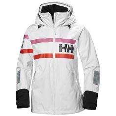 Blått, hvitt Helly Hansen jakke