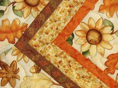 Happy Harvest Quilted Table Runner with Fall by susiquilts on Etsy
