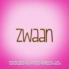 Zwaan (Voor meer inspiratie, en unieke geboortekaartjes kijk op www.heyboyheygirl.nl)